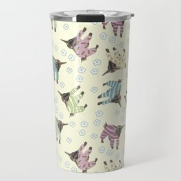 Pajama'd Baby Goats - Yellow Travel Mug