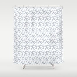 Celebration Party Time Bunting Pattern White & Blue Shower Curtain