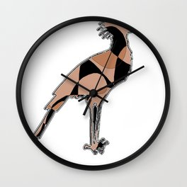 Secretary bird on white Wall Clock