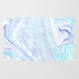 Marbling Colorful Waves Rug
