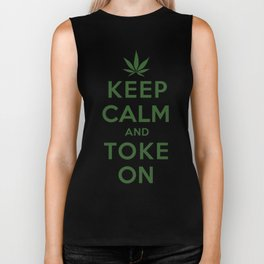 Keep Calm and Toke On Biker Tank