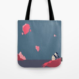 A lonely house in a floating world Tote Bag