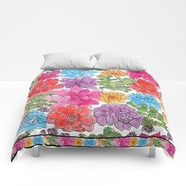 1960s Garden by Offhand Designs Comforters
