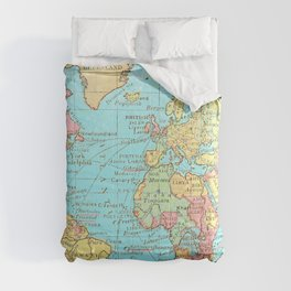 Map of the World Comforters