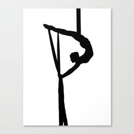 Aerial Silk Artist Silhouette  Canvas Print