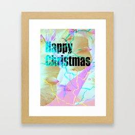 Happy Christmas card Framed Art Print