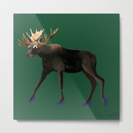 Moose in heels  Metal Print