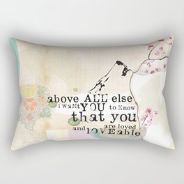 Above All You are Loved Rectangular Pillow