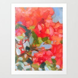 Vermillion Blooms Art Print