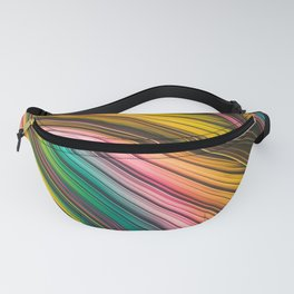 Yellow, Pink, Blue, Green Strand Design Fanny Pack