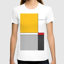 Mid century Modern yellow gray black red T-shirt