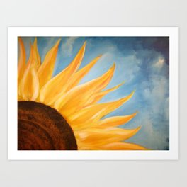 Morning Sunflower Art Print