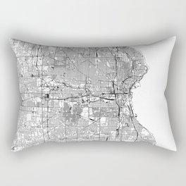 Milwaukee White Map Rectangular Pillow