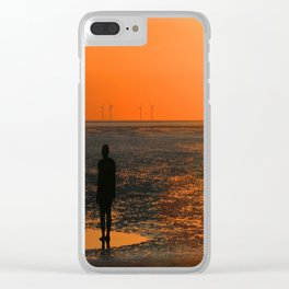 Two Gormley Iron Men Clear iPhone Case