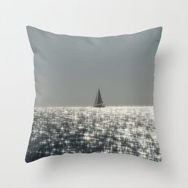 Sparkling Sail Throw Pillow