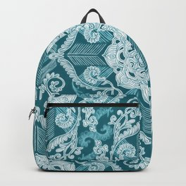 Centered Lace - Teal  Backpack