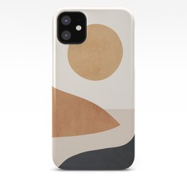 Minimal Abstract Art Landscape 9 iPhone Case