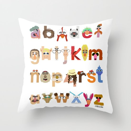 The Great Muppet Alphabet (the sequel) Throw Pillow