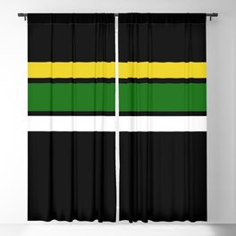 TEAM COLORS 2... green, yellow Blackout Curtain