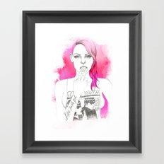 Little Trouble Girl Framed Art Print