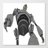 iron giant Canvas Prints featuring Iron Giant. by Steven Goddard