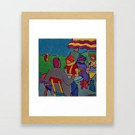 Green's Cafe' Framed Art Print