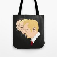 shaun of the dead Tote Bags featuring Simon Pegg - Shaun Of The Dead, Hot Fuzz and The World's End by Tomcert