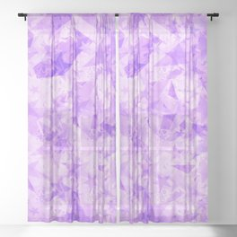 Pastel purple stars on a light background in the projection. Sheer Curtain