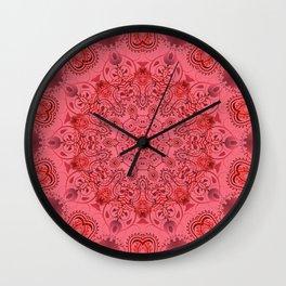 Pink paisly Wall Clock