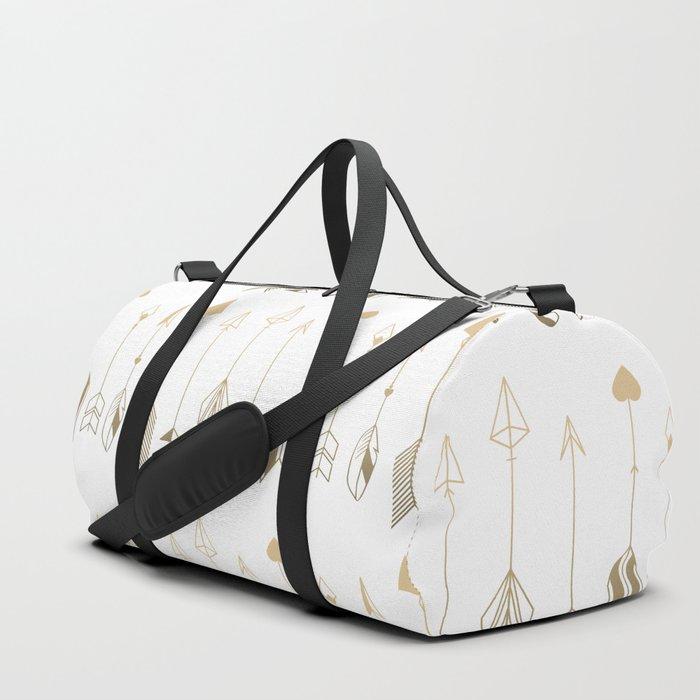 Be Brave Little Arrow (gold) Duffle Bag