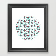 Watermelon Fiesta! Framed Art Print