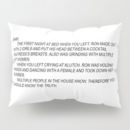 jersey shore anonymous note Pillow Sham
