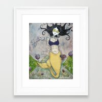 marina and the diamonds Framed Art Prints featuring Marina by Allison Weeks Thomas