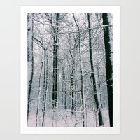 blankets Art Prints featuring Blankets of Snow by Warren Silveira + Stay Rustic