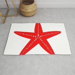 Starfish (Red & White) Rug