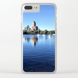 Sailboats on the Shore Clear iPhone Case