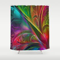 luigi Shower Curtains featuring Fabulous Petals by Klara Acel