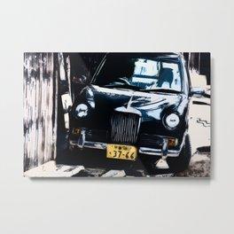 Retro Japanese Vehicle Painting Metal Print