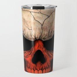 Dark Skull with Flag of Poland Travel Mug