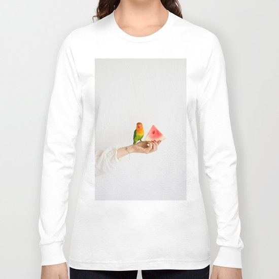 Parrot and watermelon Long Sleeve T-shirt