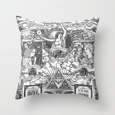 Legend of Zelda - The Three Goddesses of Hyrule Geek Line Artly Throw Pillow