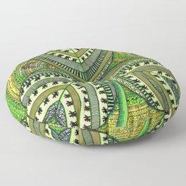 Patterned Shamrock Floor Pillow