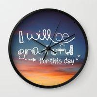 grateful dead Wall Clocks featuring grateful by Brittney Borowski