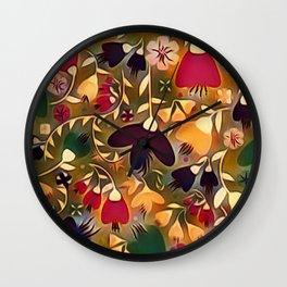 Floral Mixup Wall Clock