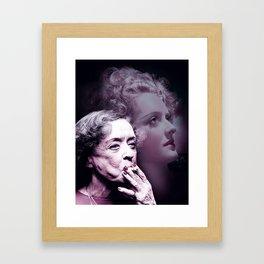 Bette Davis 1980 Infrared art by Ahmet Asar Framed Art Print