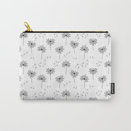 Dandelions in Black Carry-All Pouch