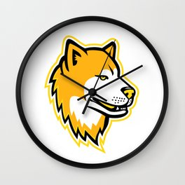Japanese Akita Inu Dog Mascot Wall Clock
