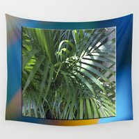 palm Wall Tapestries featuring palm by Hannah Siegfried