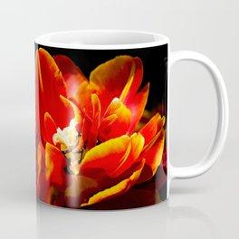 Red tulips dark background Coffee Mug