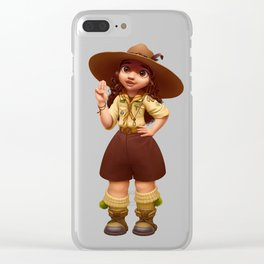 Girl Scout Clear iPhone Case